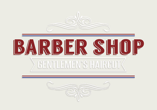 Vitrophanie Barber Shop T7-VBA7-01